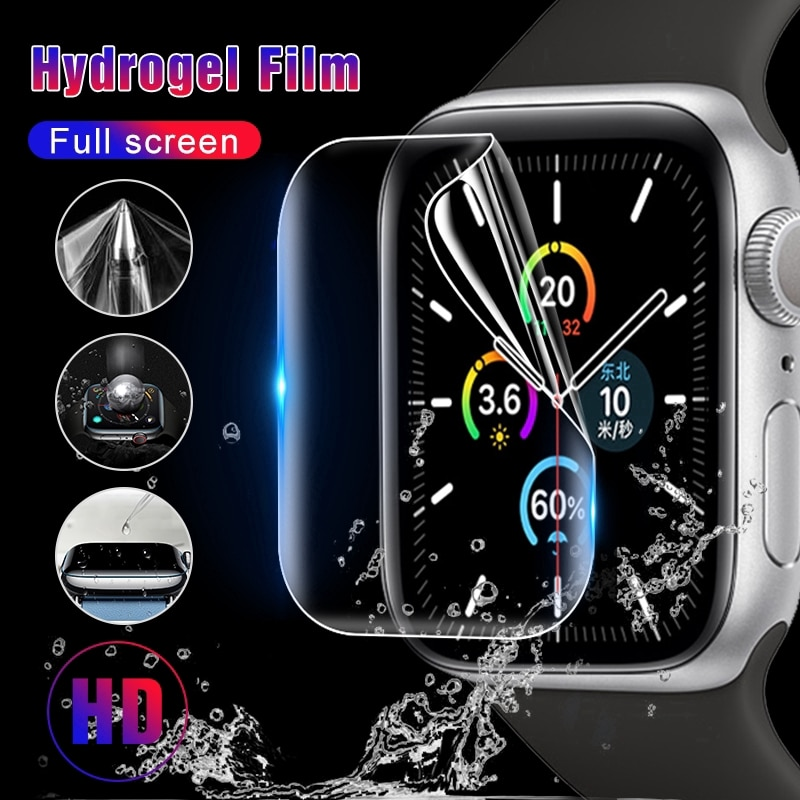 Защитная пленка для Apple Watch Series 7 6 SE 5 4 44 мм 40 мм 45 мм, Гидрогелевая пленка для Iwatch 3 2 1 42 мм 38 мм