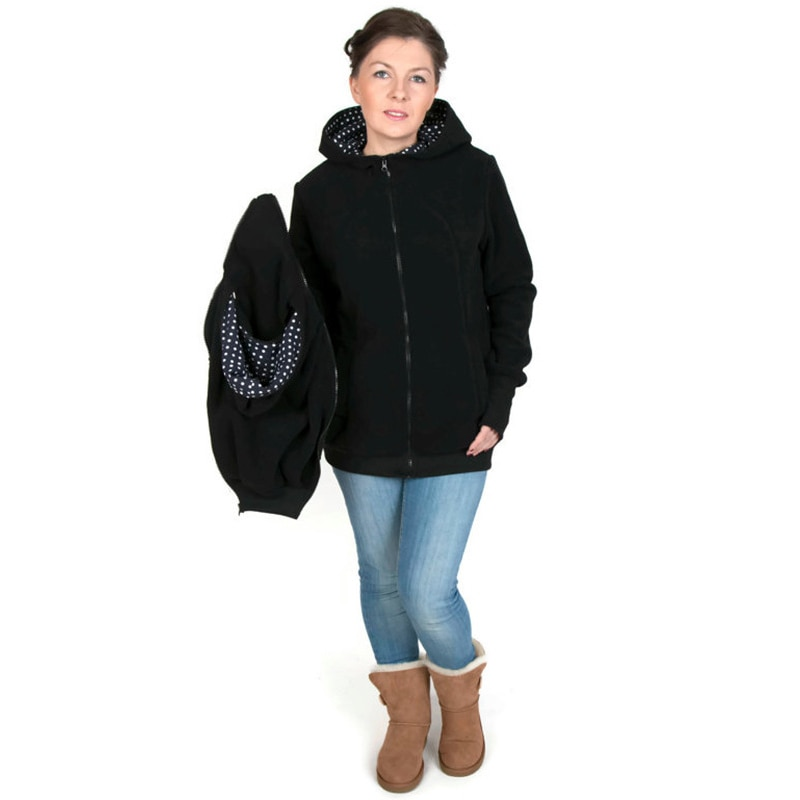 Mother Kangaroo Hoodie Sweater Jacket Maternity Clothes Thicken Coat For Pregnant Women Parenting Child Winter 2020 Brand enlarge