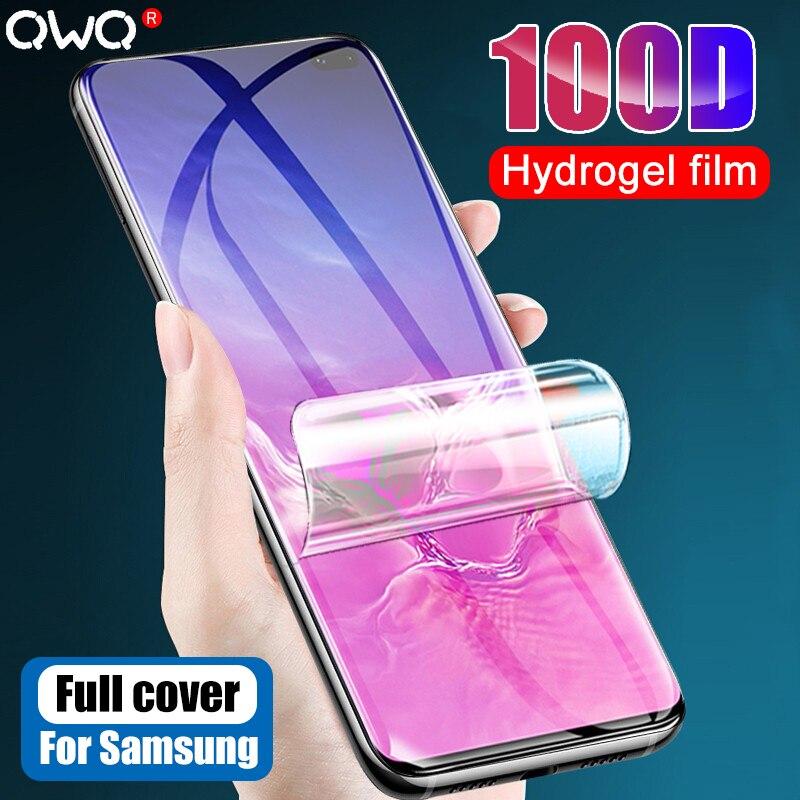 Película de hidrogel suave 100D para Samsung S10 S9 S8 Plus S20 Ultra Protector de pantalla para Samsung Note 10 Plus 9 8 Not Glass