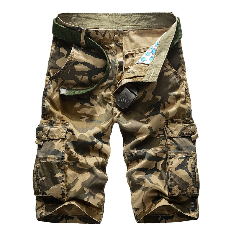Камуфляжные шорты-карго для мужчин, новинка 2021, мужские повседневные шорты, мужские свободные рабочие шорты, мужские шорты в стиле милитари,...