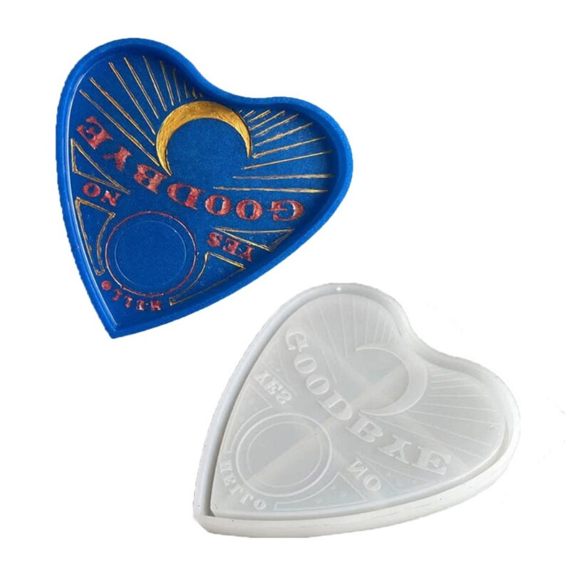 Game Tray Epoxy Resin Mold Heart Shape Serving Board Plate Coaster Silicone