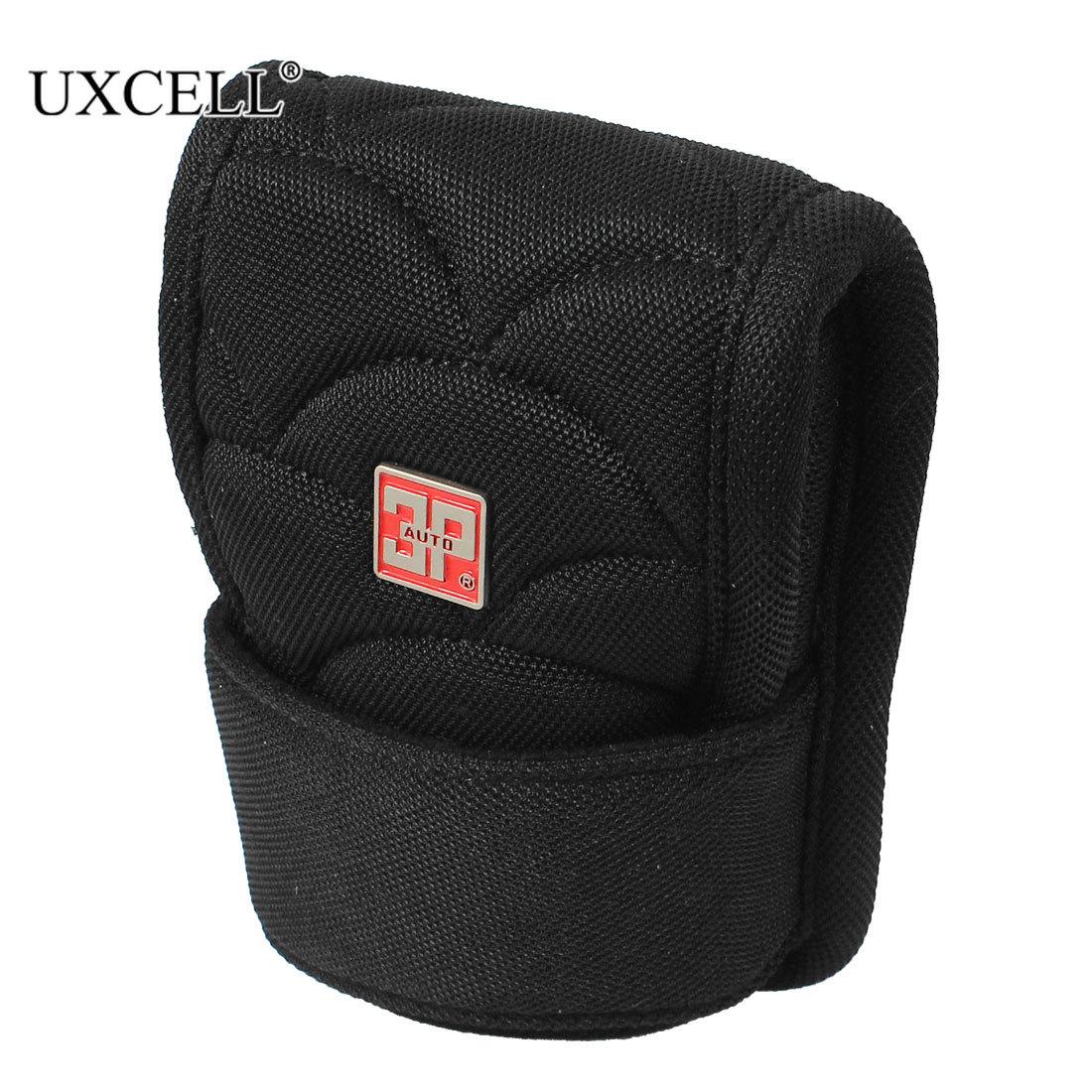 Uxcell Universal Car Hook Loop Closure Gear Shift Knob Boot Nylon Cover Protector Black Gear Shift Collars