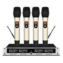 Microphone professionnel sans fil microphone portable fréquence réglable scène microphone karaoké maison KTV événement de fête