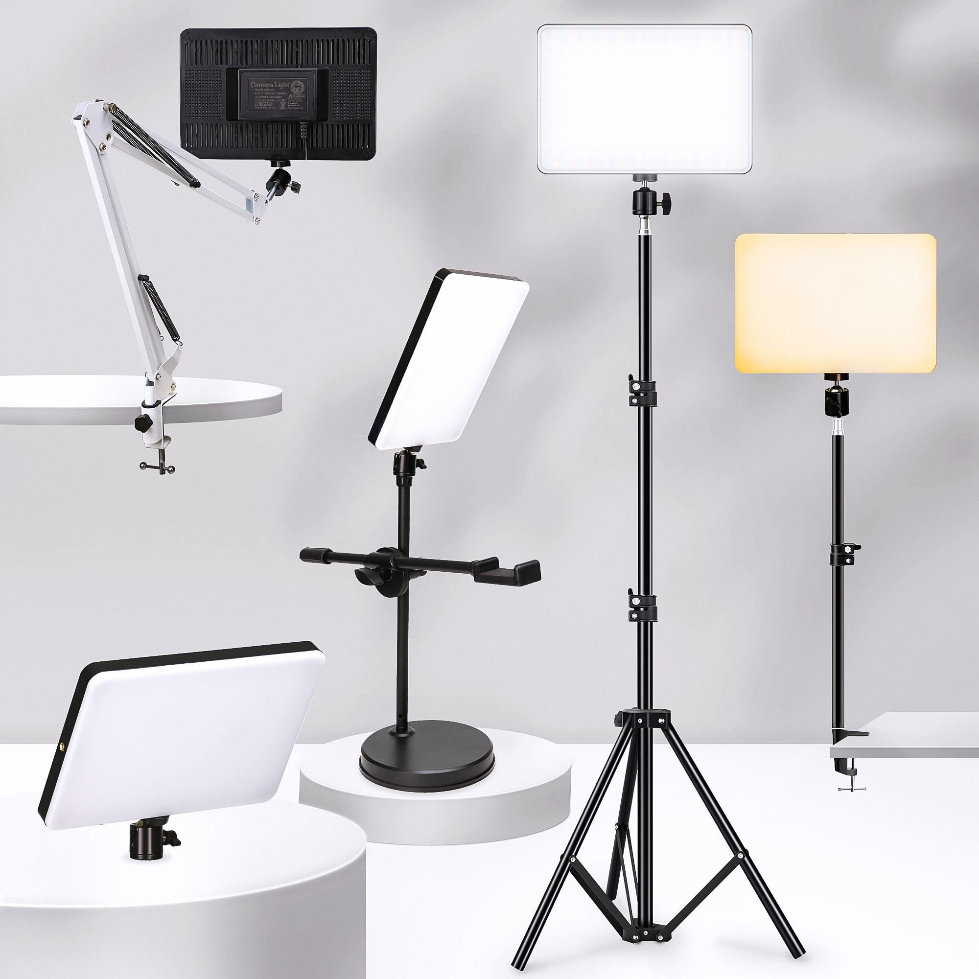 عكس الضوء LED الفيديو الضوئي لوحة الاتحاد الأوروبي التوصيل 2700k-5700k التصوير الإضاءة للبث المباشر استوديو الصور ملء مصباح ثلاثة ألوان