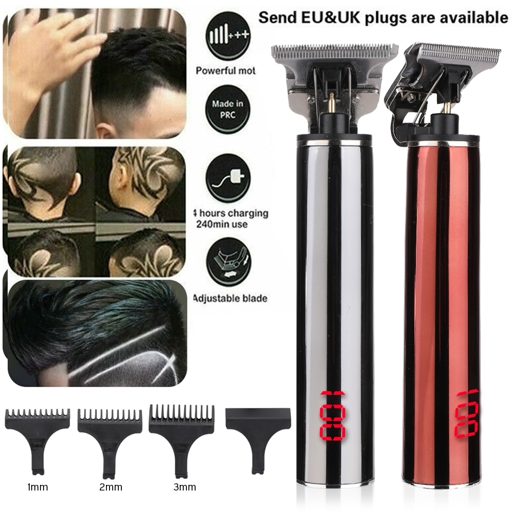 LCD USB Rechargeable T9 Baldheaded Hair Clipper Electric Hair Trimmer Cordless Shaver Trimmer Men Barber Hair Cutting Machine enlarge
