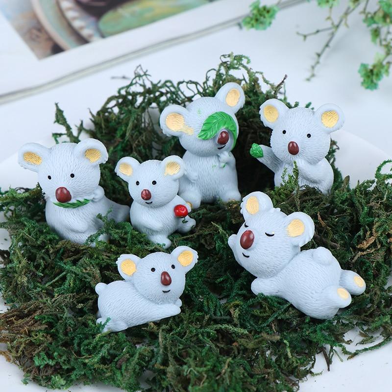 Мини смолы животное коала миниатюрная фигурка Feng Shui Миядзаки Пасхальный домашний декор для сада фей, украшение дома номер аксессуары