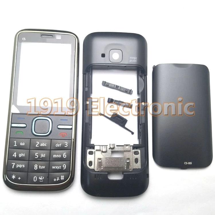 Черный Новый Полный Чехол для мобильного телефона + английский или русский или Иврит Клавиатура для Nokia c5 c500 C5-00