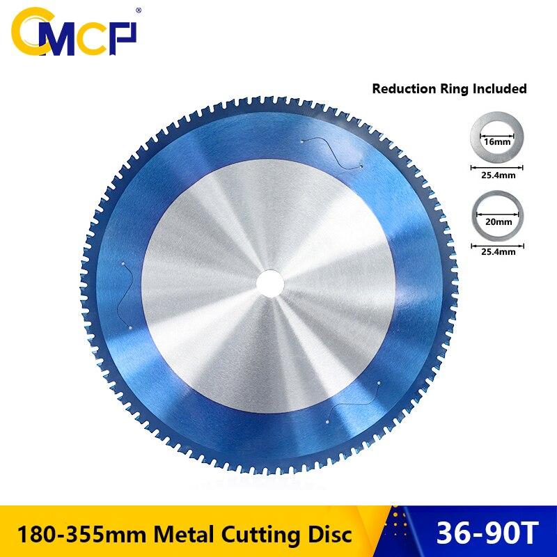 CMCP-شفرة منشار دائري لقطع المعادن ، 180-355 مللي متر ، نانو أزرق ، قرص قطع كربيد مطلي بالألومنيوم