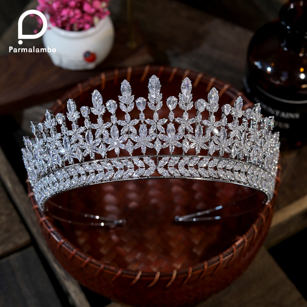 Review Amazing Queen Tiara Vintage Tiara Wedding Crown Bridal Tiara Wedding Hair Accessories For Women's Prom Party Jewelry, Gifts