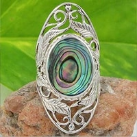 fashion inlaid colorful zircon ring creative leaves flower