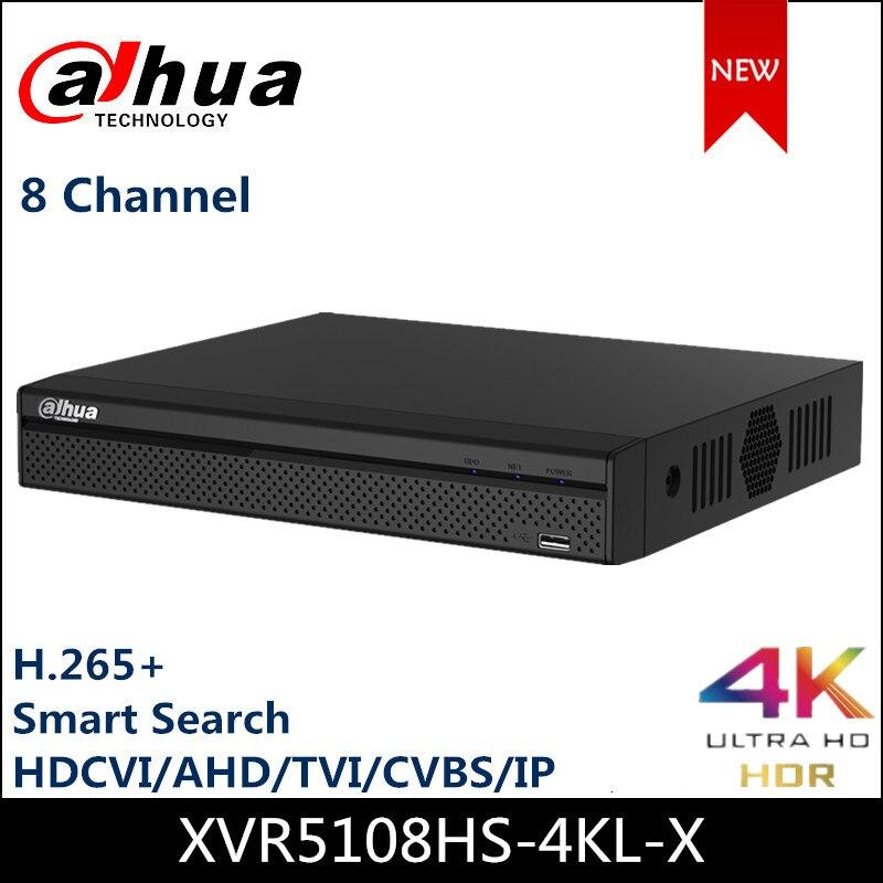 Dahua, de 8 canales XVR5108HS-4KL-X XVR grabadora de vídeo, resolución P2P H.265 4k, admite HDCVI AHD TVI CVBS, entradas de vídeo IP para CCTV