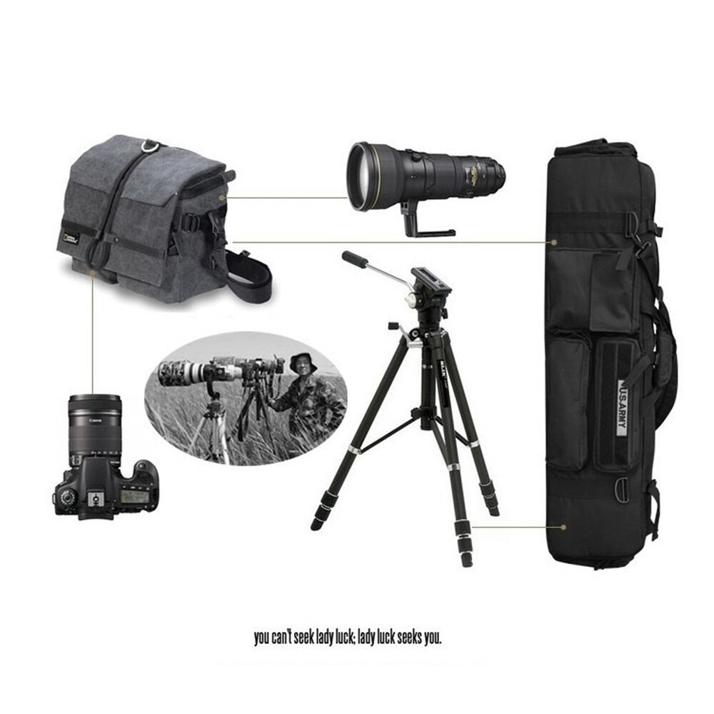 M249 Double-layer Carrying Bag One-shoulder 1 Meter Hanging Gun Bag Multi-function Kit for Camping Fishing Photography Equipment