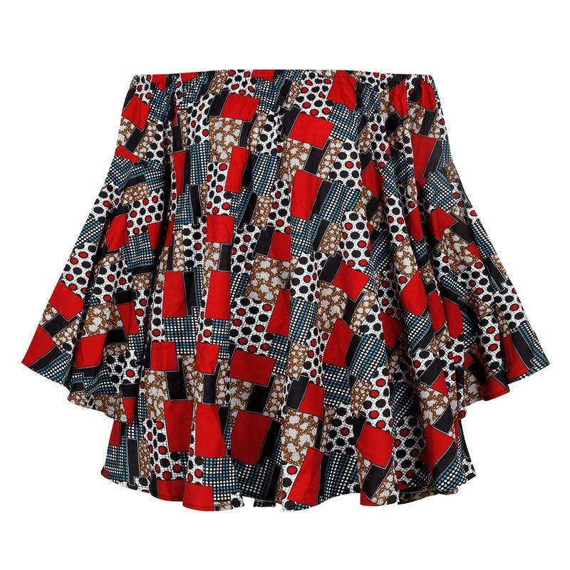 African Dashiki Print Dress Women 2021 Fashion Off Shoulder Mini Dress Party African Dresses for Women Robe Africaine Femme xl
