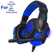 wired gaming headset headphone for ps4 xbox one nintend switch ipad pc with microphone collapsible earphone non luminous version