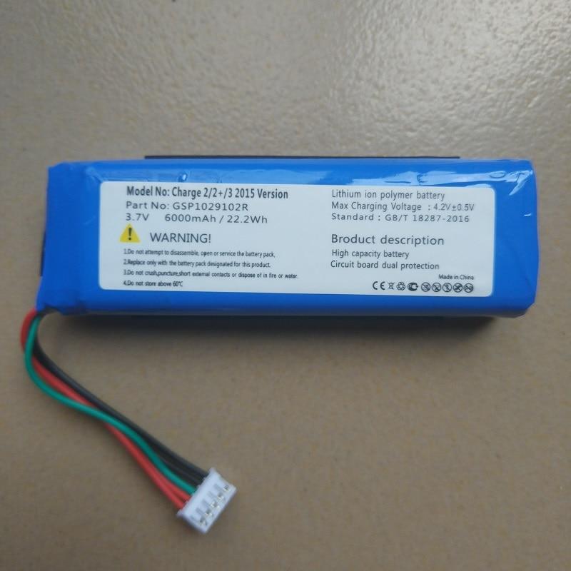 Batería para carga de JBL 2,2 +, 2 Plus, 3 reproductor de visión 2015,2016 nuevo reemplazo recargable de polímero de litio GSP1029102A/R 3,7 V 6000mAh