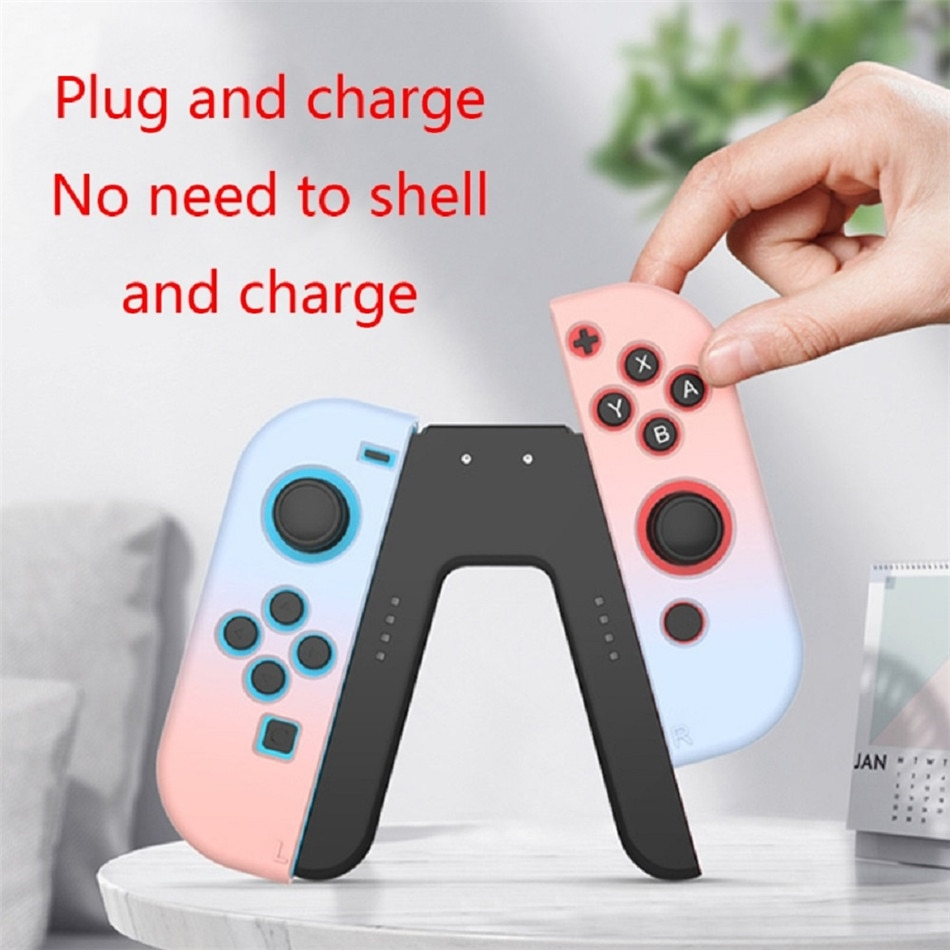 Wecute 1PC Charging Station Charging Grip Handle Bracket Gaming Grip Handle Controller For Switch JoyCon Holder