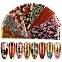 8pclot nail foil for manicure uv gel polish sticker 420cm colorful flowers design adhesive decal nail art decoration wraps