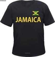 T-Shirt jamajka-schwarz/gelb mit flagge-s bis 5XL-jamajka rasta reggae 100% bawełna Brand New t-shirty sbz3537
