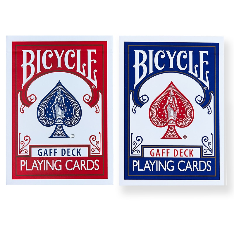 Bicycle Gaff Deck Playing Cards Red/Blue Rare Limited Poker Magic Cards Special Props Close Up Stage Magic Trick for Magician magic cards svengali deck atom playing cards poker card games close up stage magic tricks props for magician
