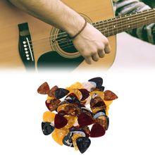 Hot New 100 Pcs Guitar Pick Plectrum Triangle Celluloid Instruments Accessories 0.46mm Random Color