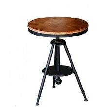 Campagne américaine table basse ronde moderne loisirs salon canapé côté bureau minimaliste lumière luxe métal mini mesa