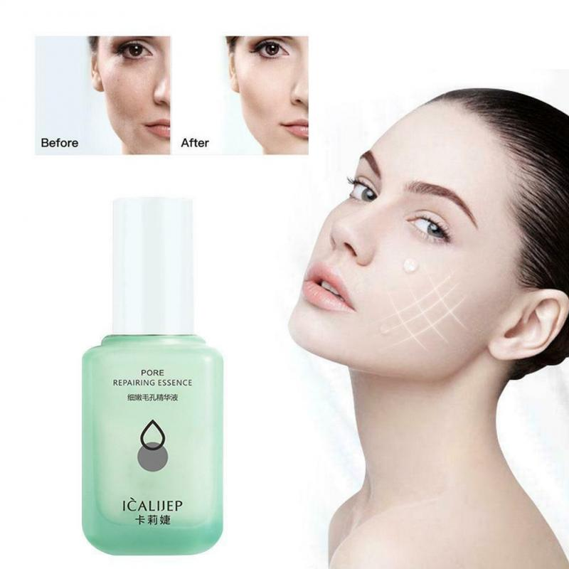 60ML esencia humectante reductor poros Serum aclara los poros refinando blanqueamiento hidratante...