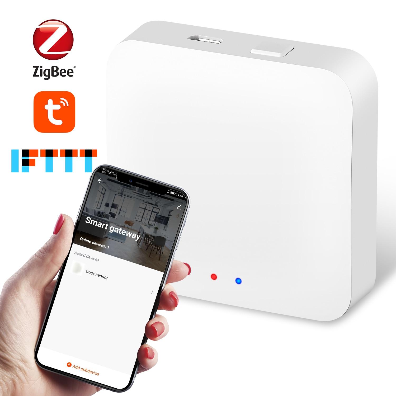 Tuya ZigBee Hub Wireless Smart ZigBee Gateway Hub Remote Voice Control Smart Home Works With Alexa   Google Home