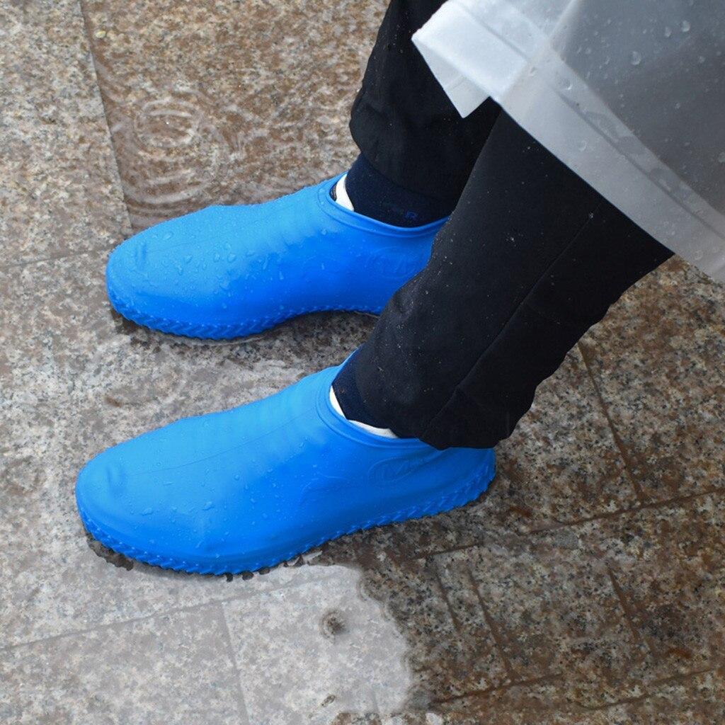 Bota de Silicone Reutilizável e Sapato Meias de Chuva à Prova Protetores de Sapato de Borracha de Silicone para Surchaussure ao ar Cobre Dwaterproof Água Livre Indoor Y15
