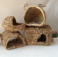 chinchilla grass nest pet toy molars gnawing house hamster cage sleeping golden bear rabbit nest sleeping room pet keeping warm
