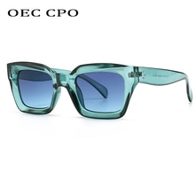 Cool Colorful Square Sunglasses Women Men New Brand Design Vintage Sun Glasses For Women Unique Flat
