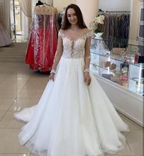 2020 boho düğün elbisesi uzun kollu behomian a-line beyaz custom made tül elbise maria vestidos de novia corte sirena con mangas