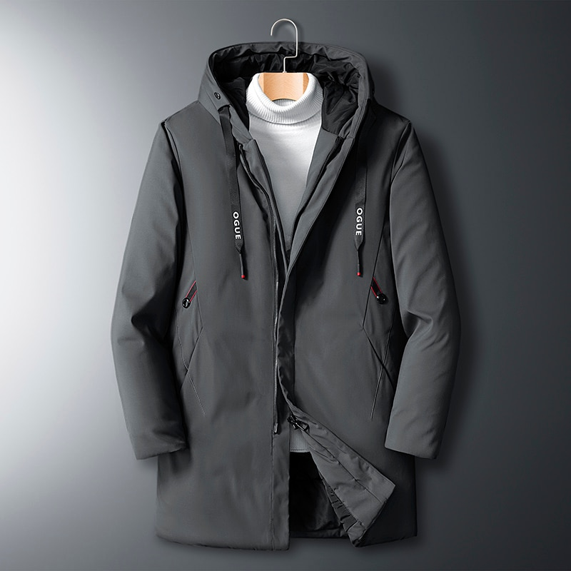 new winter men windbreaker parka casual oversize zipper jacket hooded thicken and warm hooded outwear coat large size 5xl 2020 New Winter Men Parka Big Pockets Casual Jacket Hooded Solid Color 2 colors Thicken And Warm hooded Outwear Coat Size 7XL