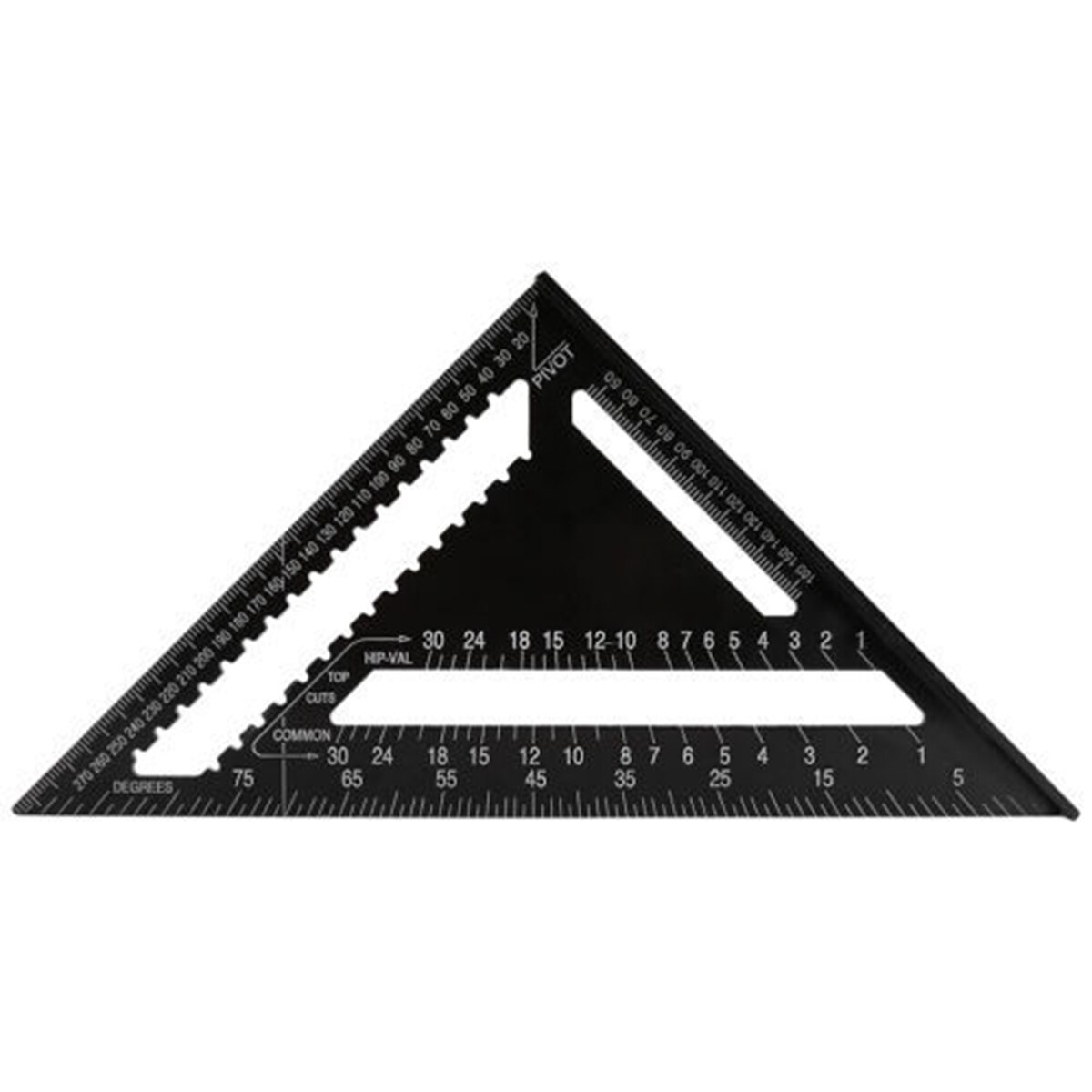 12 polegada de alumínio rafter praça carpinteiro régua triangular ferramenta medição carpinteiro carpintaria triangular regra