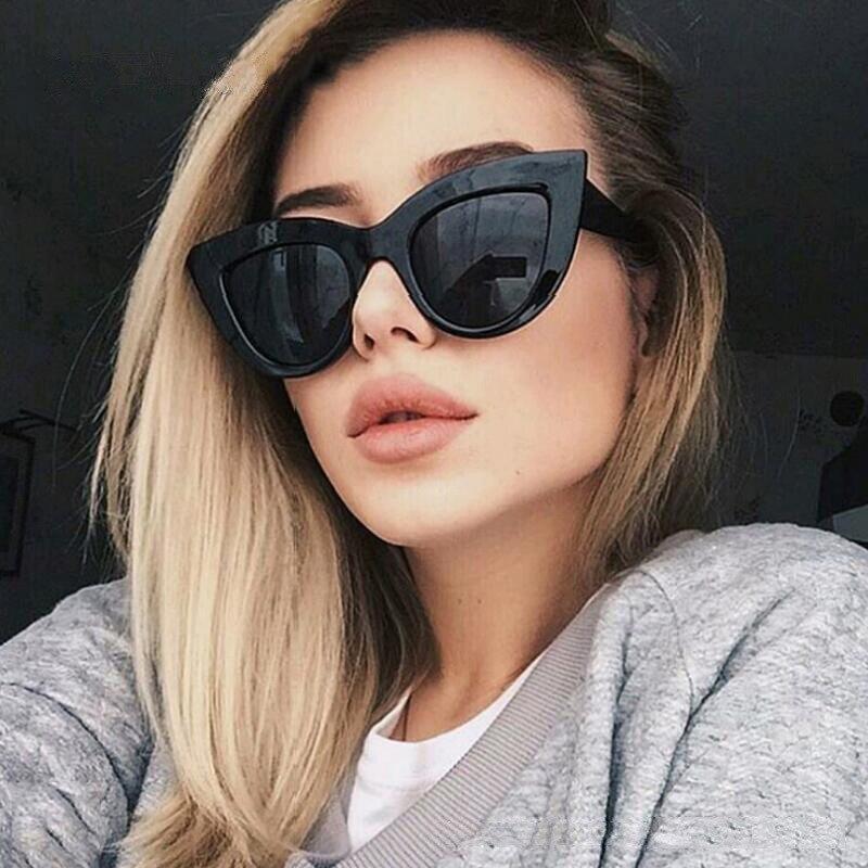 JIFANPAUL Big Box Sunglasses Dazzling Sunglasses Female Trendy Glasses Personality Cat-eye Sunglasse