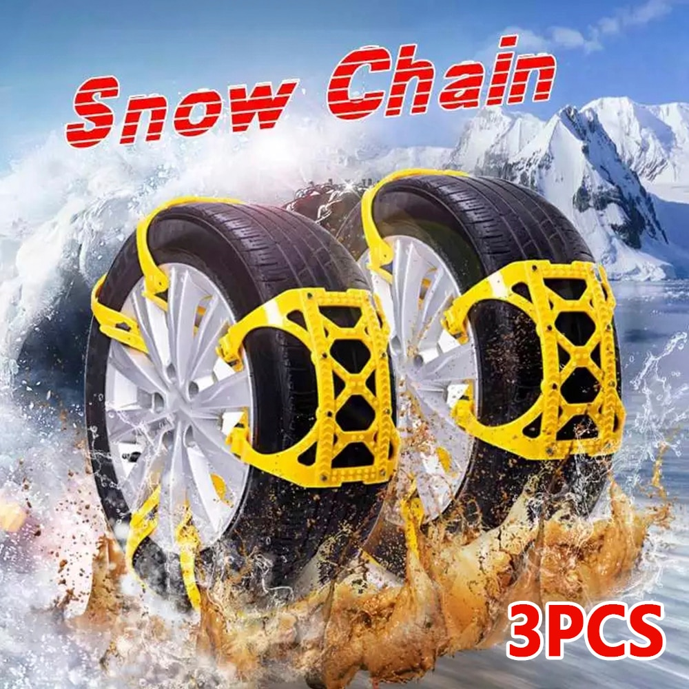 TPU Snow Chains Universal Car Suit 165-265mm Tyre Winter Roadway Safety Tire Chains Snow Climbing Mud Ground Anti Slip