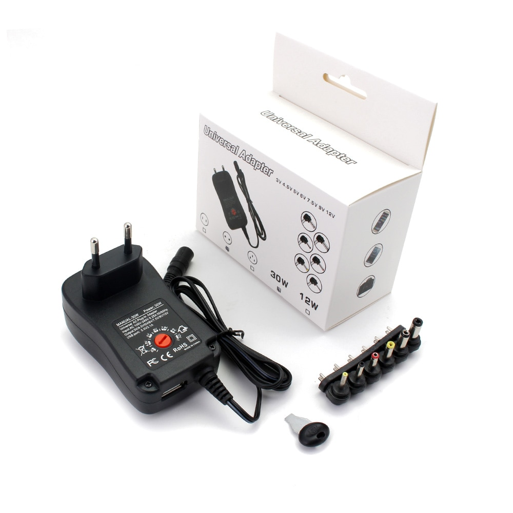 AC DC 12V Volt Power Supply Adapter 9V 5V 6V 2A 30W Adjustable USB Power Supply Charger Transformer 220V TO 12V Fonte LED Driver