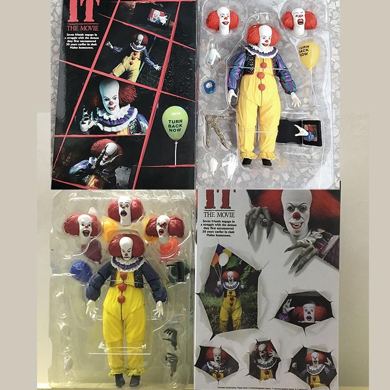 Neca figura ele pennywise joker stephen king it palhaço pvc figura de ação coleção modelo brinquedos