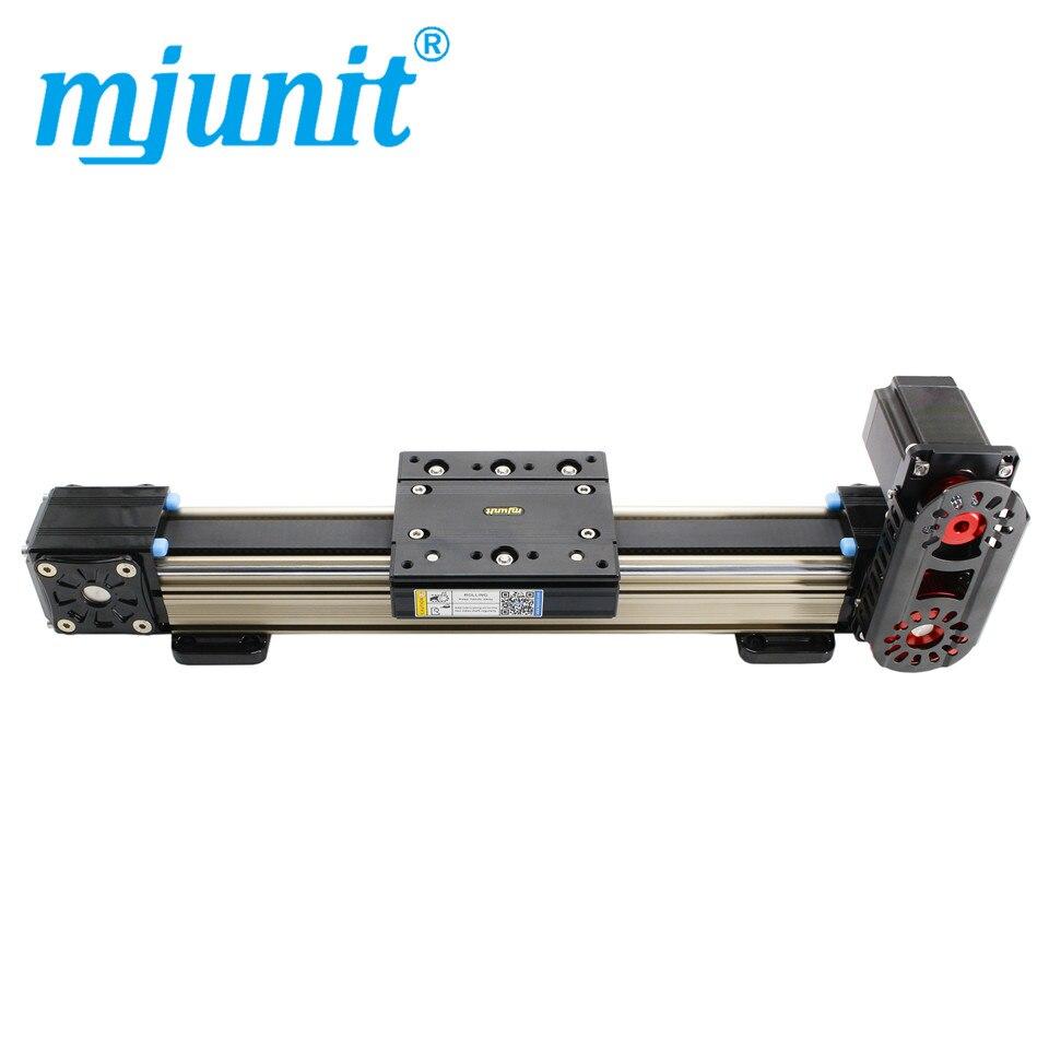 Mjunit موقعين عمل مع منصة وحدة ثلاثة محاور ، شريحة دليل حزام متزامن غير قياسي للموضع التلقائي