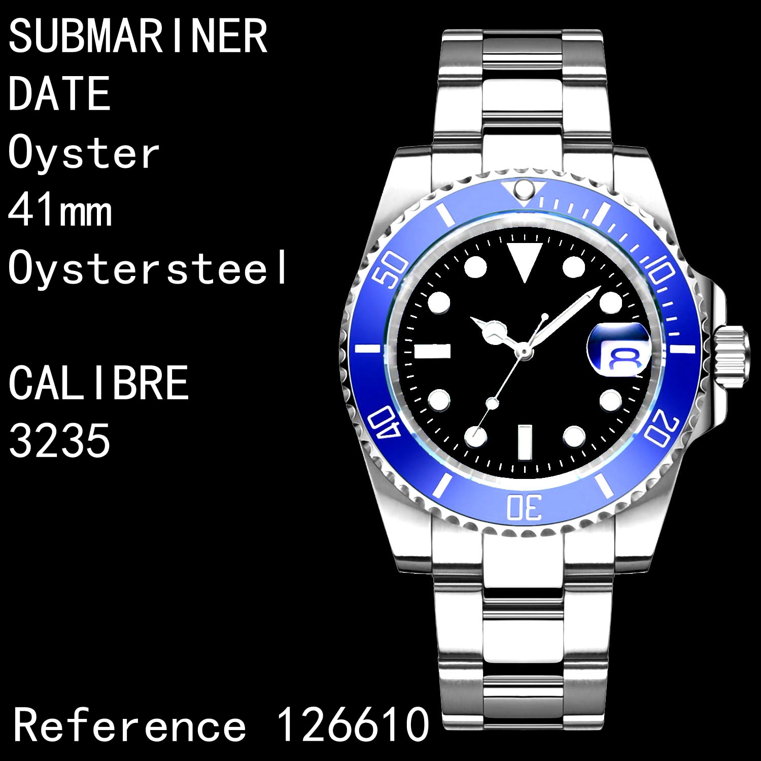 Men's Automatic Mechanical Watch Submariner ceramics 126619 stainless steel 1:1 Best Edition 3235 Br