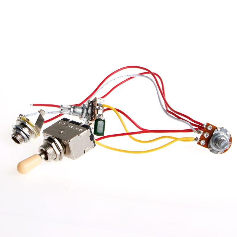 Arnés de cableado de guitarra nueva, conmutador de 3 vías 1V1T 500k, Conector de tono de volumen para LP Y4UB