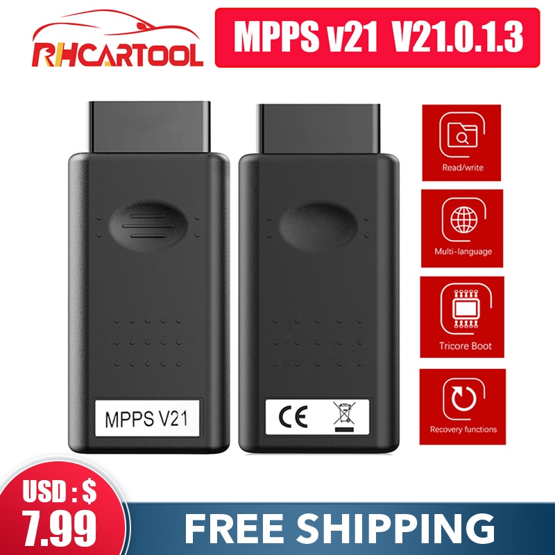 MPPS V21 новейший V21.0.1.3 многоязычный с прорывом трикорный кабель поддерживает усовершенствованную функцию Tricore MultiBoot ko mpps v18 v16
