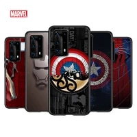 marvel superhero logo for huawei p smasrt 2018 2019 2020 2021 smart sz smart plus smart pro black soft cover phone case