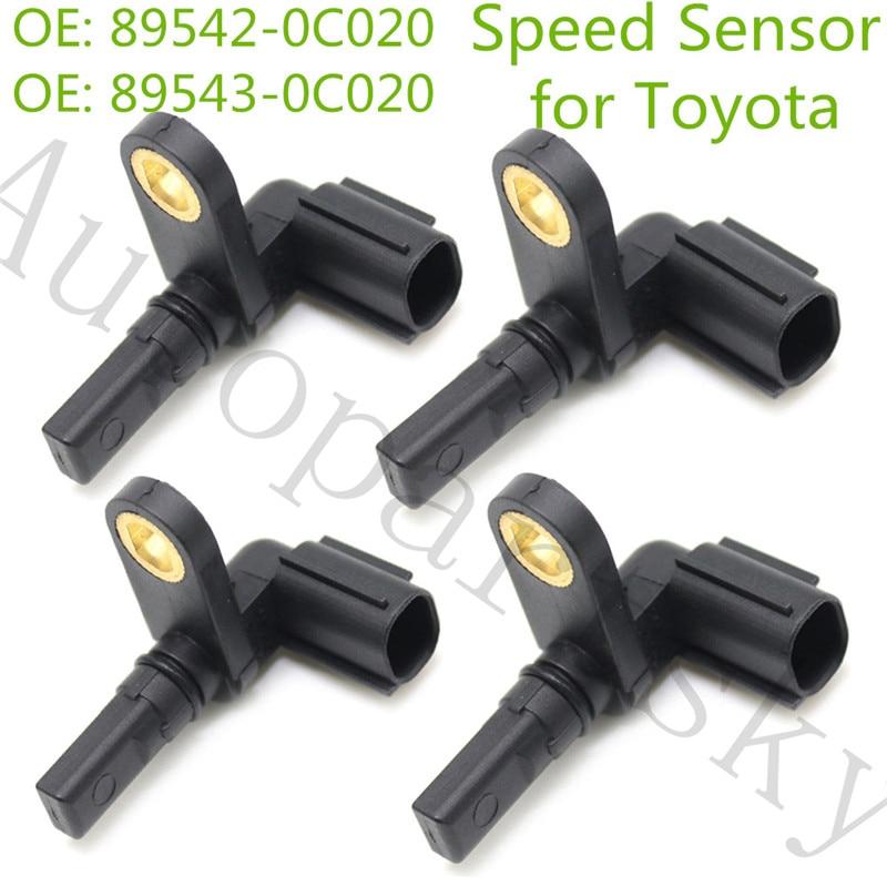 [Conjunto de 4 pces] dianteiro & traseiro abs sensor de velocidade da roda para toyota 89542-0c020 89543-0c020 895420c020 895430c020 5s8686 su10148