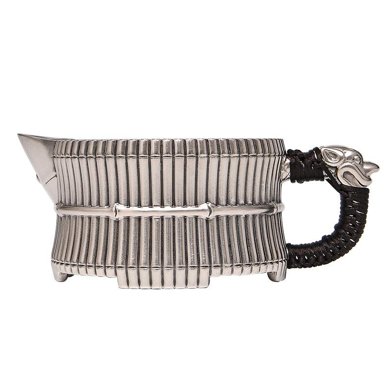 Sterling silver S999 sterling silver handmade bamboo tea cup creative tea sea kung fu tea set tea cup