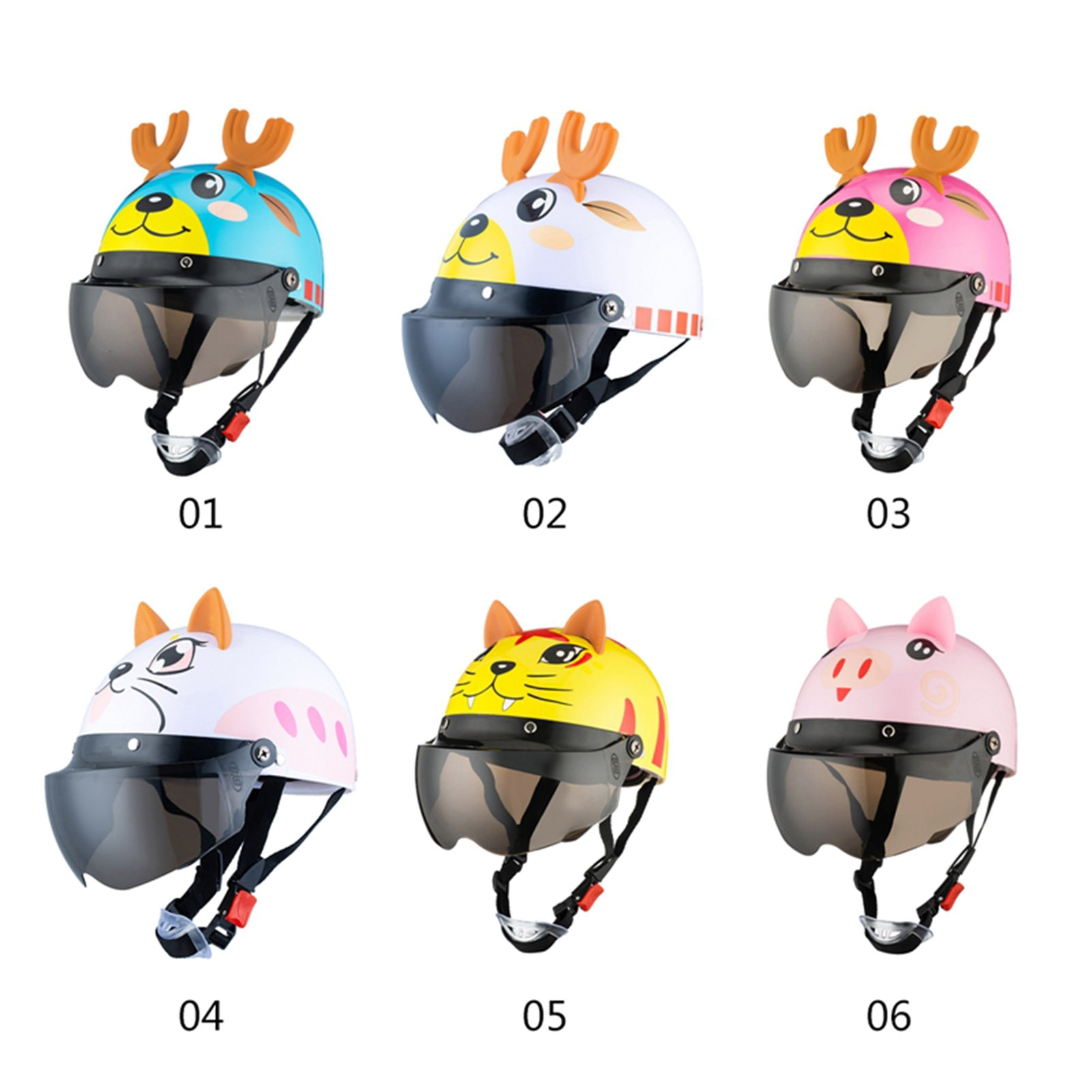 Motorcycle Riding Helmet Kids Safety Cycling Helmet Lightweight Cute Bicycle With Anti-fog Lens Bike E-bike Protection Helmet enlarge