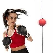 Regolabile in altezza Guantoni Da Boxe Reflex Velocità della Palla Lotta Palla Double Fine MMA Training Forare Sacchetto DELL'UNITÀ di ELABORAZIONE Sfera per la Casa Muay Thai allenamento
