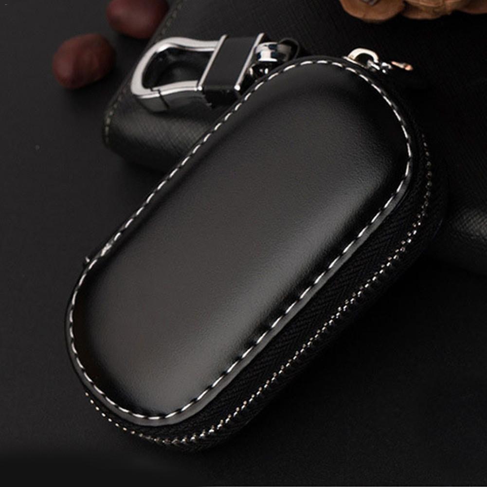 Leather Car Key Wallets Men Key Holder Housekeeper Keys Organizer Women Keychain Covers Zipper Key C