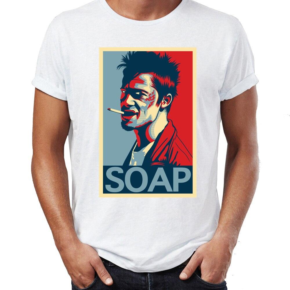 Camiseta para hombre Fight Club jabón obra de arte impresionante camiseta para hombre con diseño impreso ropa informal estilo Hip Hop recién llegado ropa masculina