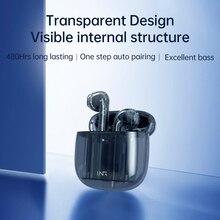 SOMIC MX503-SP TWS Transparent Earphones Wireless Bluetooth Headphones Low Latency Headset Noise Red