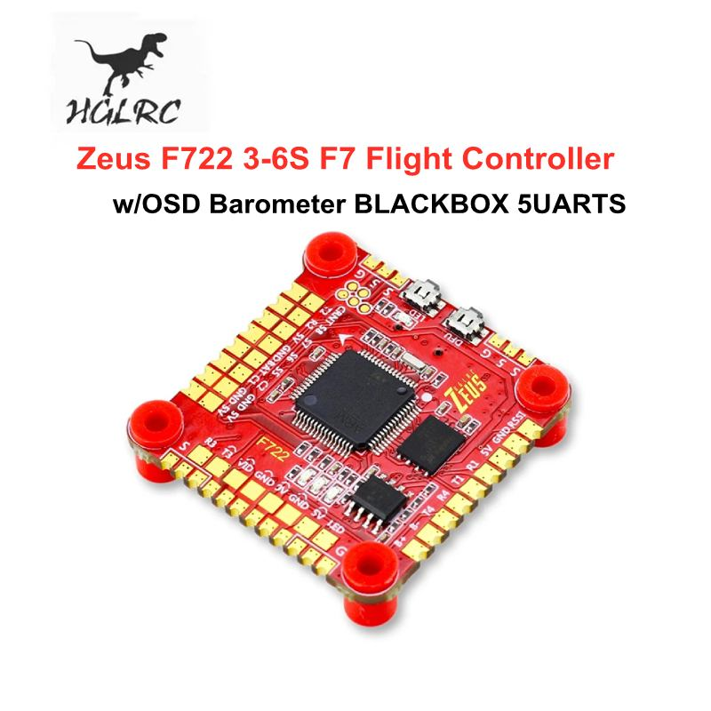 وحدة تحكم طيران HGLRC Zeus F722 MPU6000 3-6S F7 betaflight INAV ، مع بارومتر OSD ، BLACKBOX 5UARTS للطائرة بدون طيار FPV ، قطع غيار RC